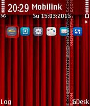 Curtain red es el tema de pantalla
