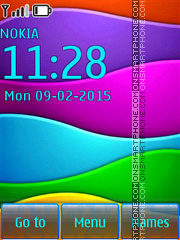 Colorful Background es el tema de pantalla