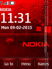 Nokia Red Drops theme screenshot