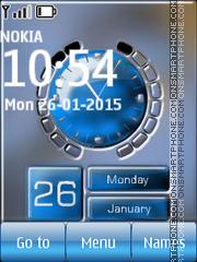 Signal Battery Calendar Clock theme screenshot