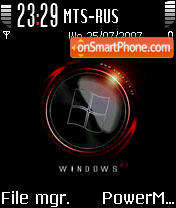 Windows XP Red 2 theme screenshot