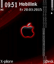 Black Apple es el tema de pantalla