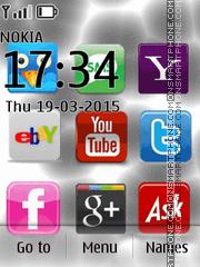 Social Networks Icons es el tema de pantalla