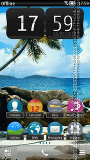 Beach in Tropics tema screenshot