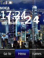 Cityscape Digital Clock es el tema de pantalla
