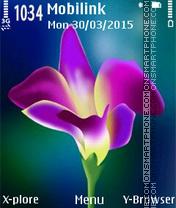 Purple flower2 es el tema de pantalla