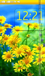 Yellow Daisies theme screenshot