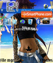 Yoruichi Bleach theme screenshot