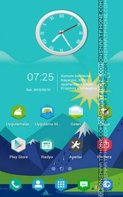 Landscape v1 tema screenshot
