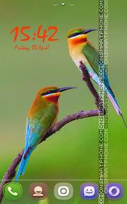 Golden BeeEater Birds es el tema de pantalla
