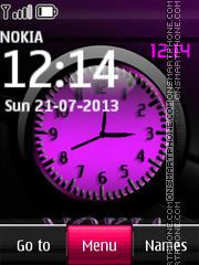 Nokia Dual Clock With Tone es el tema de pantalla