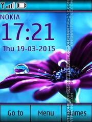Flower on turquoise es el tema de pantalla