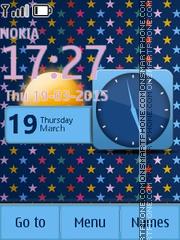 Colorful Stars X2 es el tema de pantalla