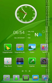 Capture d'écran Green Experience thème