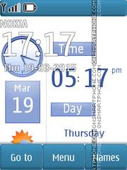 Blue Texture Clock es el tema de pantalla