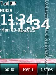 Rain Clock 01 es el tema de pantalla