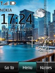 City Skyline Live Clock es el tema de pantalla