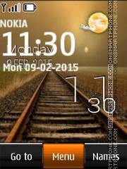 Railway and Live Clock es el tema de pantalla