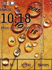 Water Drops Clock 04 es el tema de pantalla