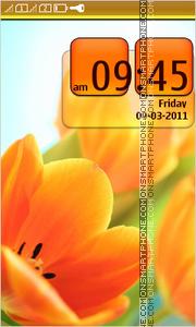 Orange Tulips 02 theme screenshot