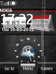 Nokia Dual Clock 12 es el tema de pantalla