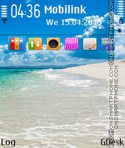 Pure sea beach es el tema de pantalla