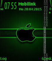 Green black apple es el tema de pantalla