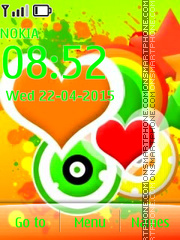 Colorful Hearts 05 theme screenshot