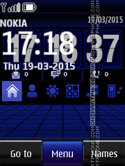 Moon Digital Clock 02 theme screenshot