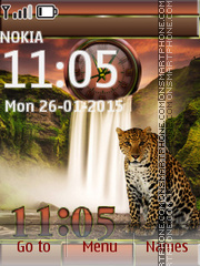 Leopard and Waterfall es el tema de pantalla