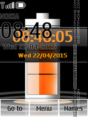 Battery Orange Clock es el tema de pantalla