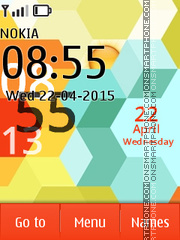 Colorful Hexagons X2 es el tema de pantalla