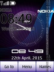 Dual Neon Clock es el tema de pantalla