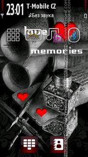 Love Memories and Letter es el tema de pantalla