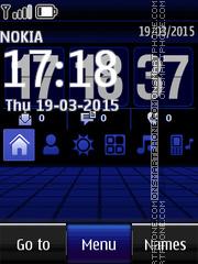 Modern Blue Digital Clock es el tema de pantalla