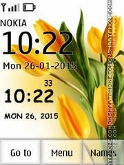 Tulip Clock 02 es el tema de pantalla