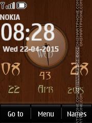 Woodworks Clock es el tema de pantalla