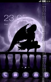 Falling moon theme screenshot