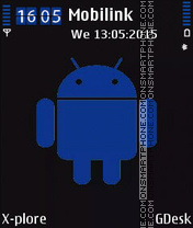 Blue android theme screenshot