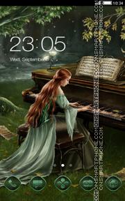 Forest piano es el tema de pantalla