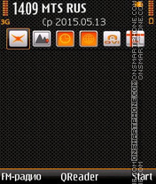 Orange Style es el tema de pantalla