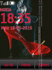 Glamorous High Heel Shoes theme screenshot