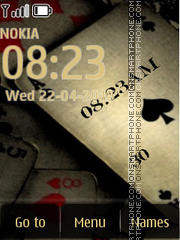 Old Poker Clock theme screenshot