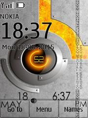 Techno Clock 01 theme screenshot
