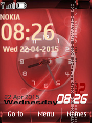 Red Duel Clock theme screenshot
