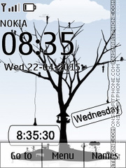 Tree Clock 02 theme screenshot