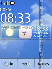 Weather Clock 01 theme screenshot