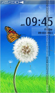 Butterflies and Dandelion tema screenshot