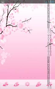Pink Cherry Flowers theme screenshot