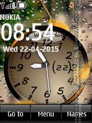 Rain Clock 02 theme screenshot